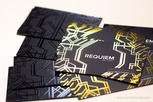 Requiem-foil-stamped-business-cards